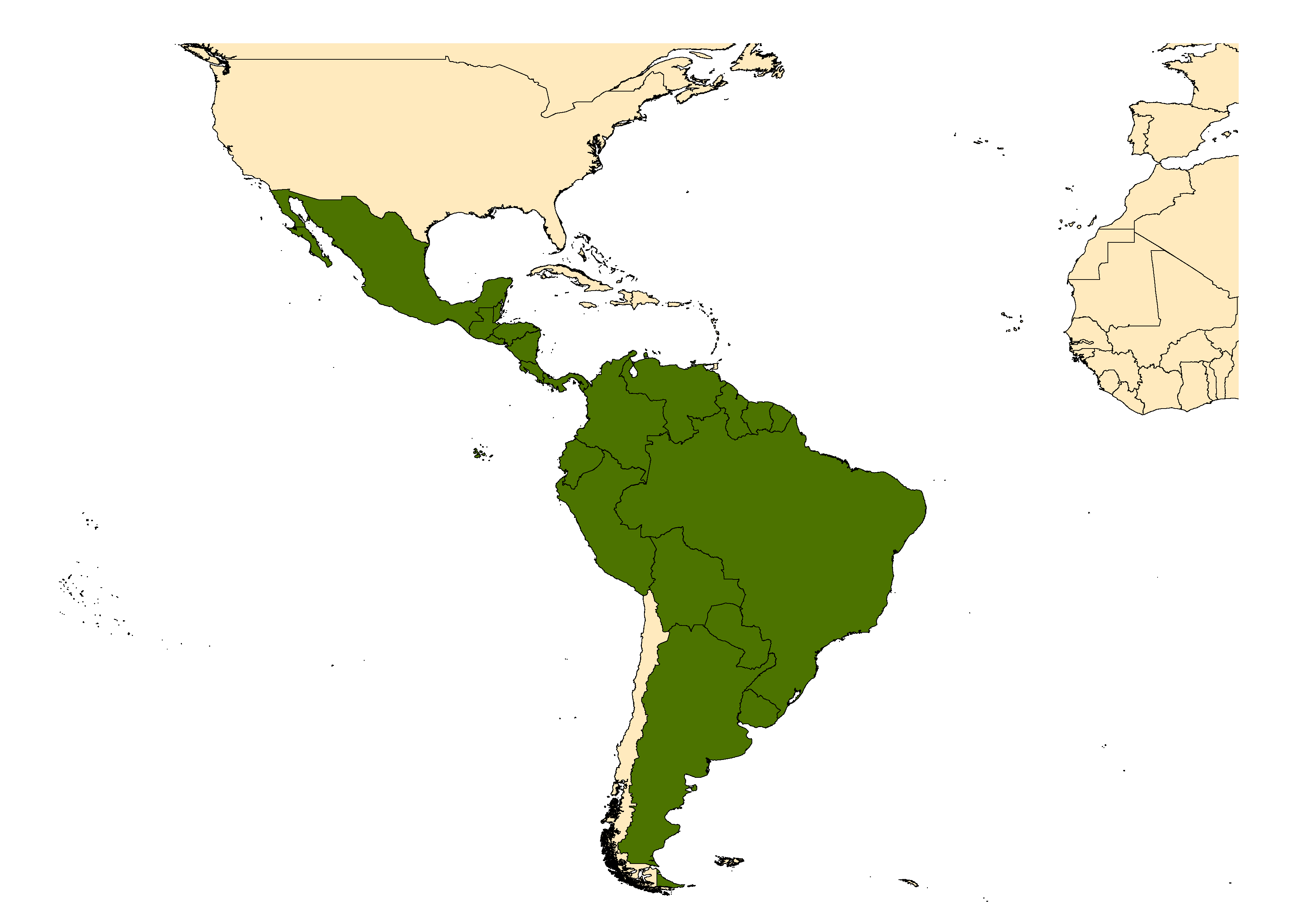 Distribution map for <em>Aedes angustivittatus</em> Dyar & Knab, 1907
