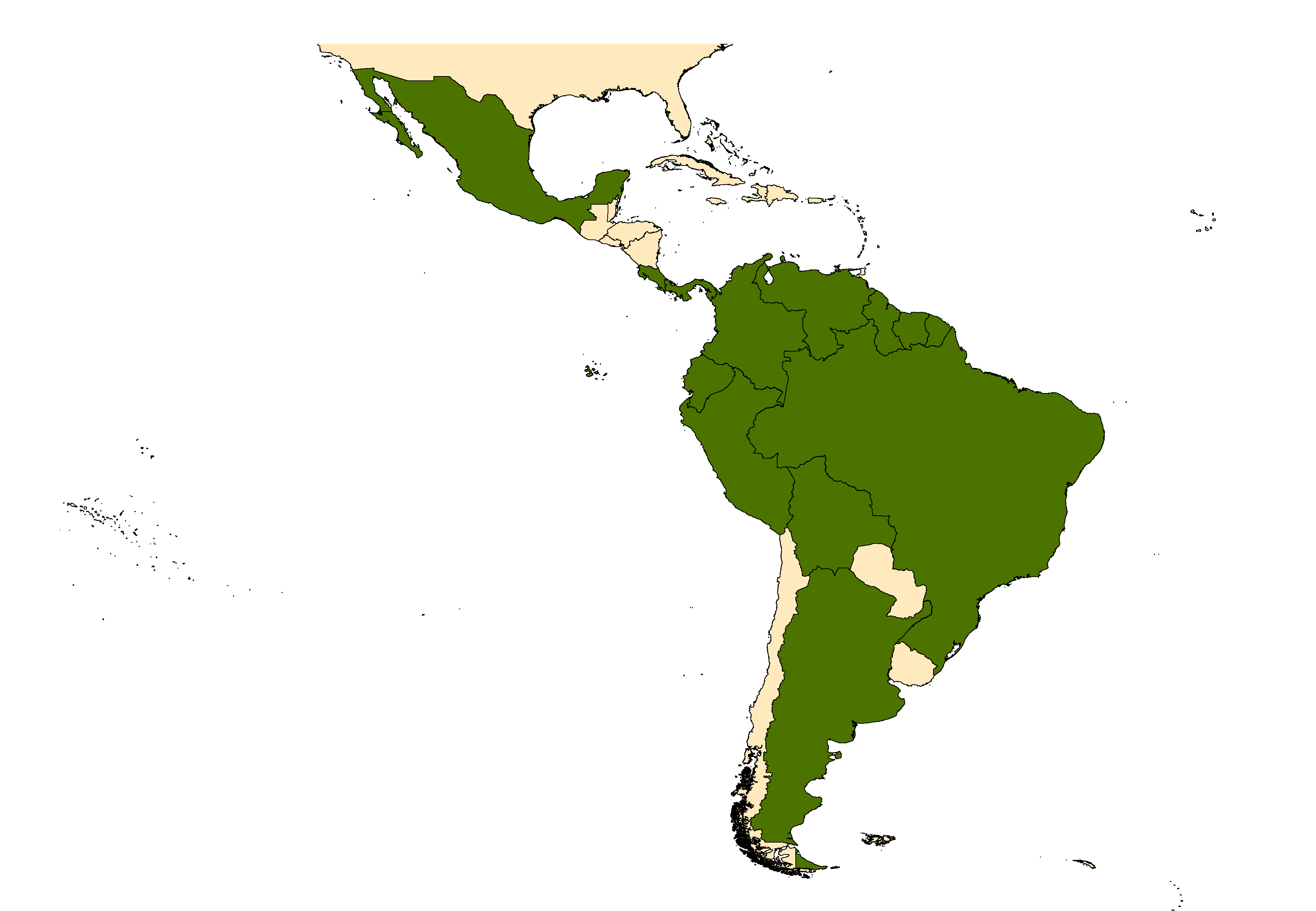 Distribution map for <em>Anopheles cruzii</em> Dyar & Knab, 1908