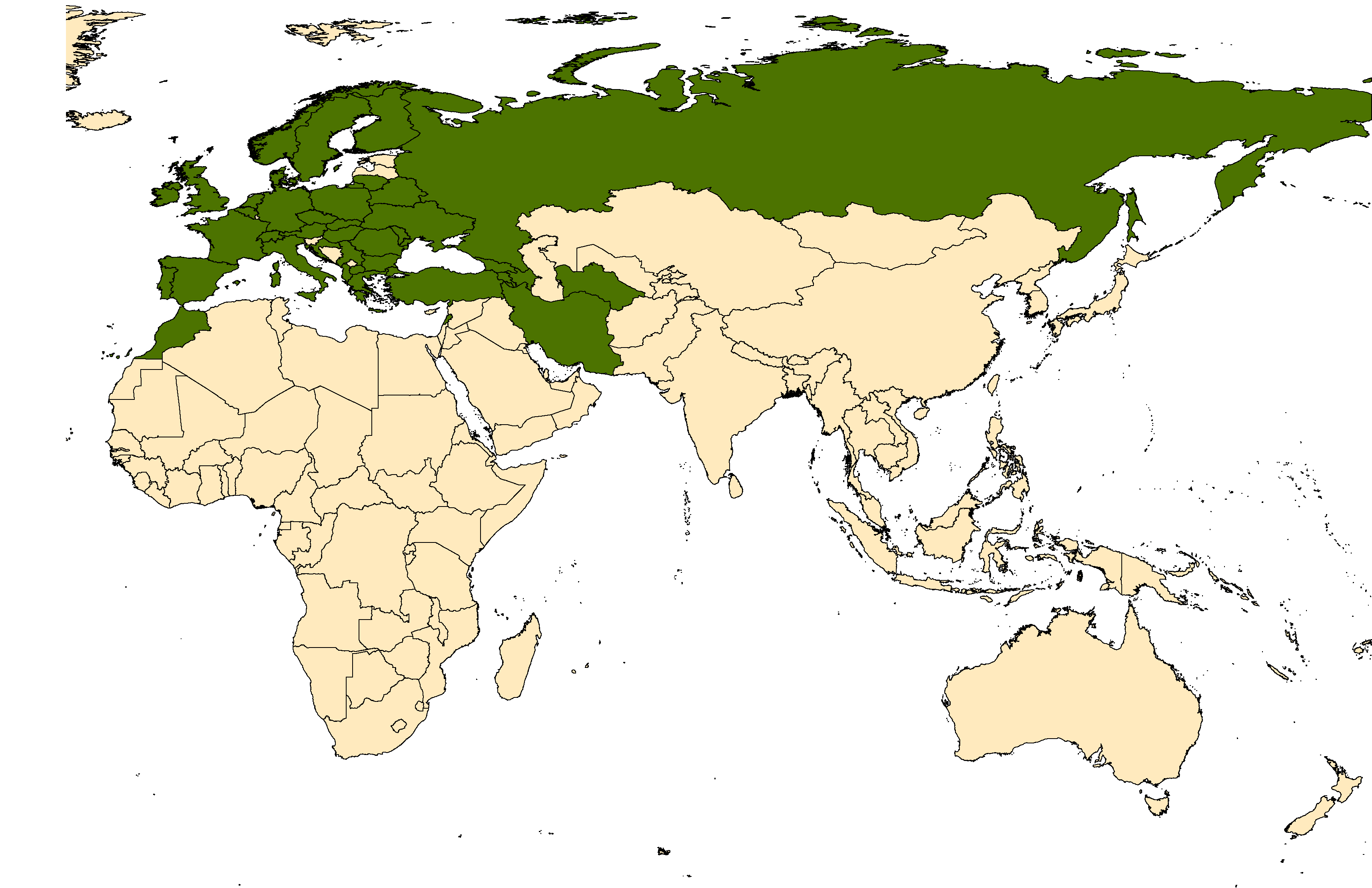 Distribution map for <em>Aedes geniculatus</em> (Olivier, 1791)