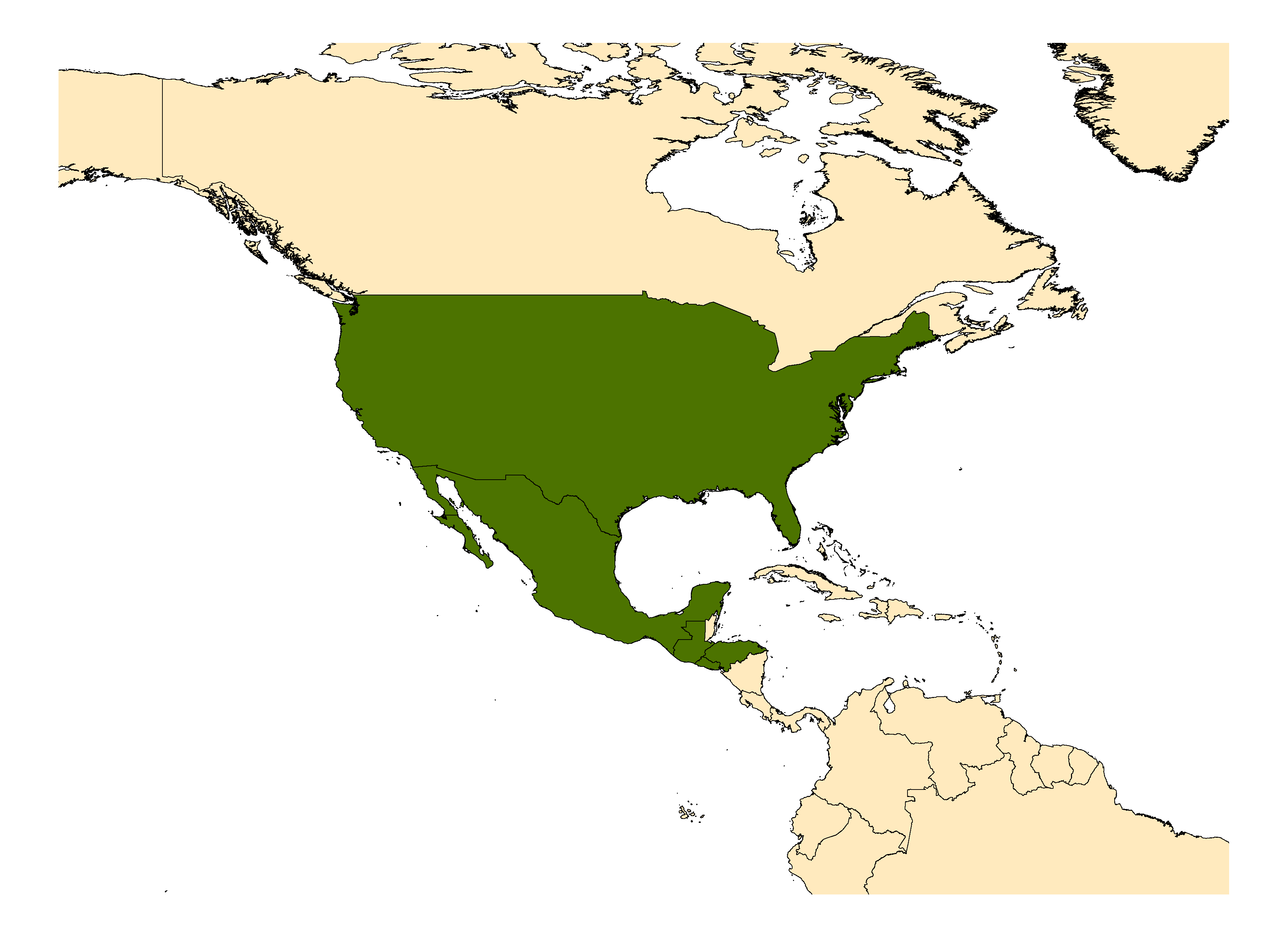 Distribution map for <em>Aedes infirmatus</em> Dyar & Knab, 1906