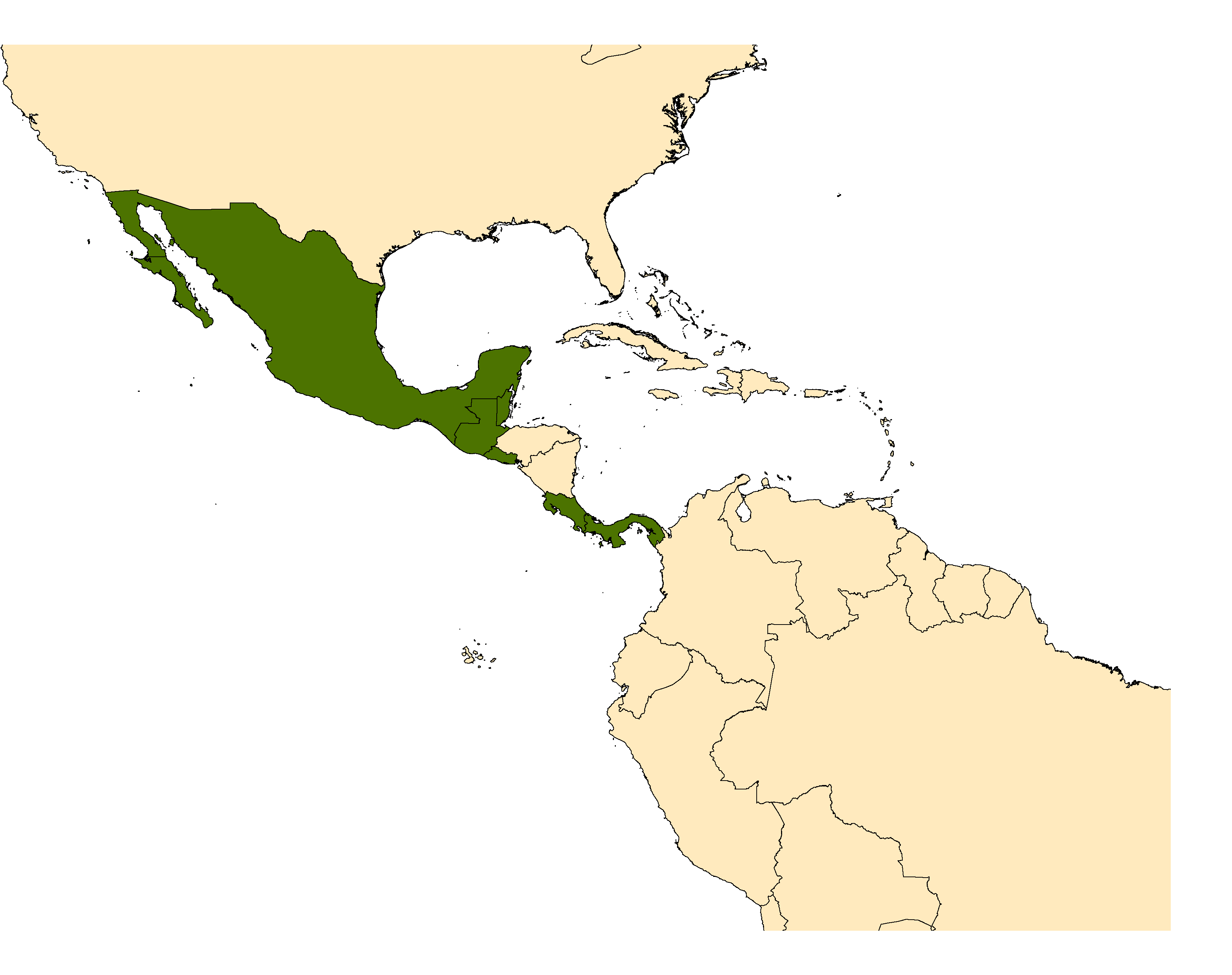 Distribution map for <em>Haemagogus mesodentatus</em> Komp & Kumm, 1938