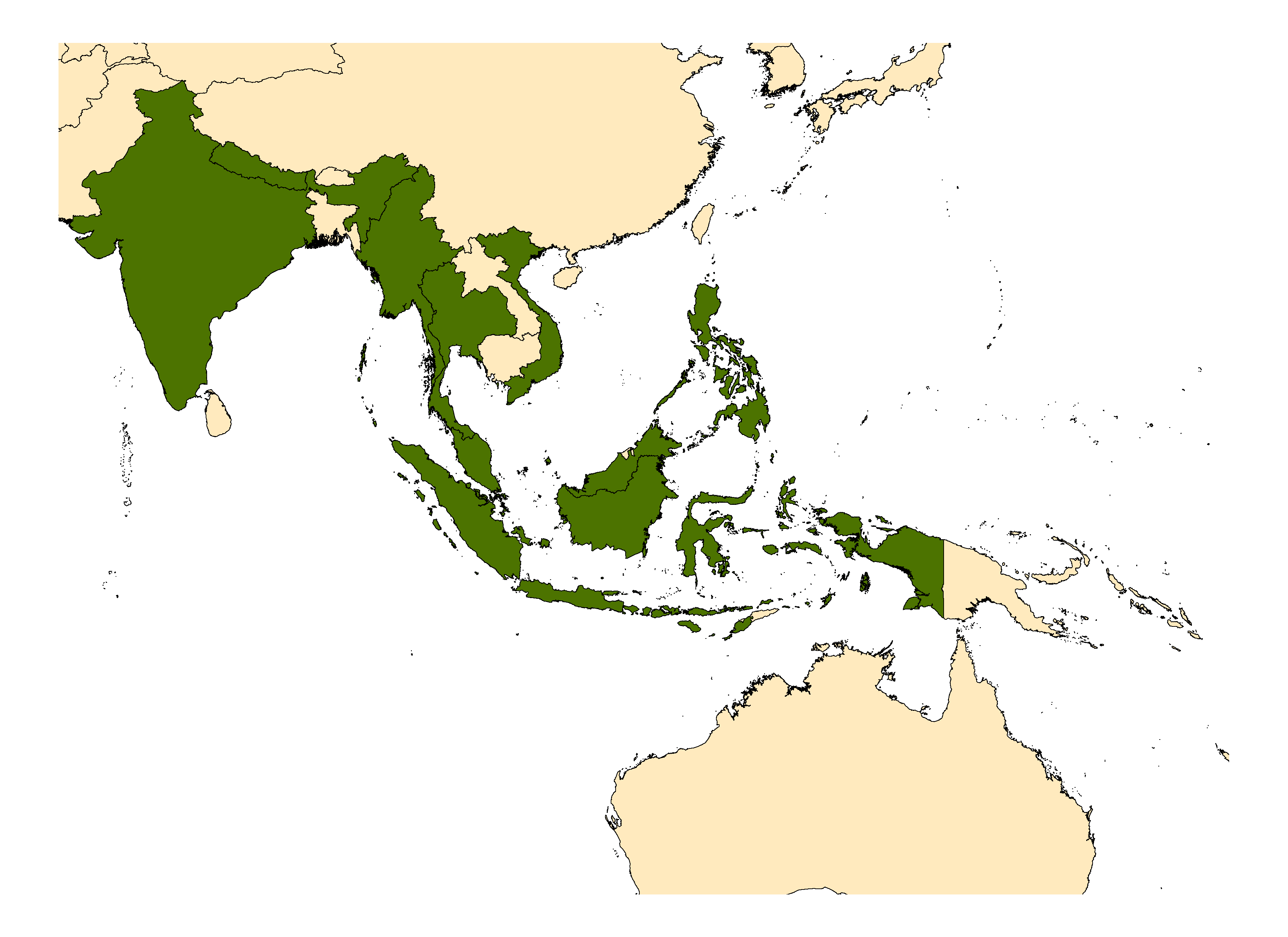 Distribution map for <em>Aedes poicilius</em> (Theobald, 1903)