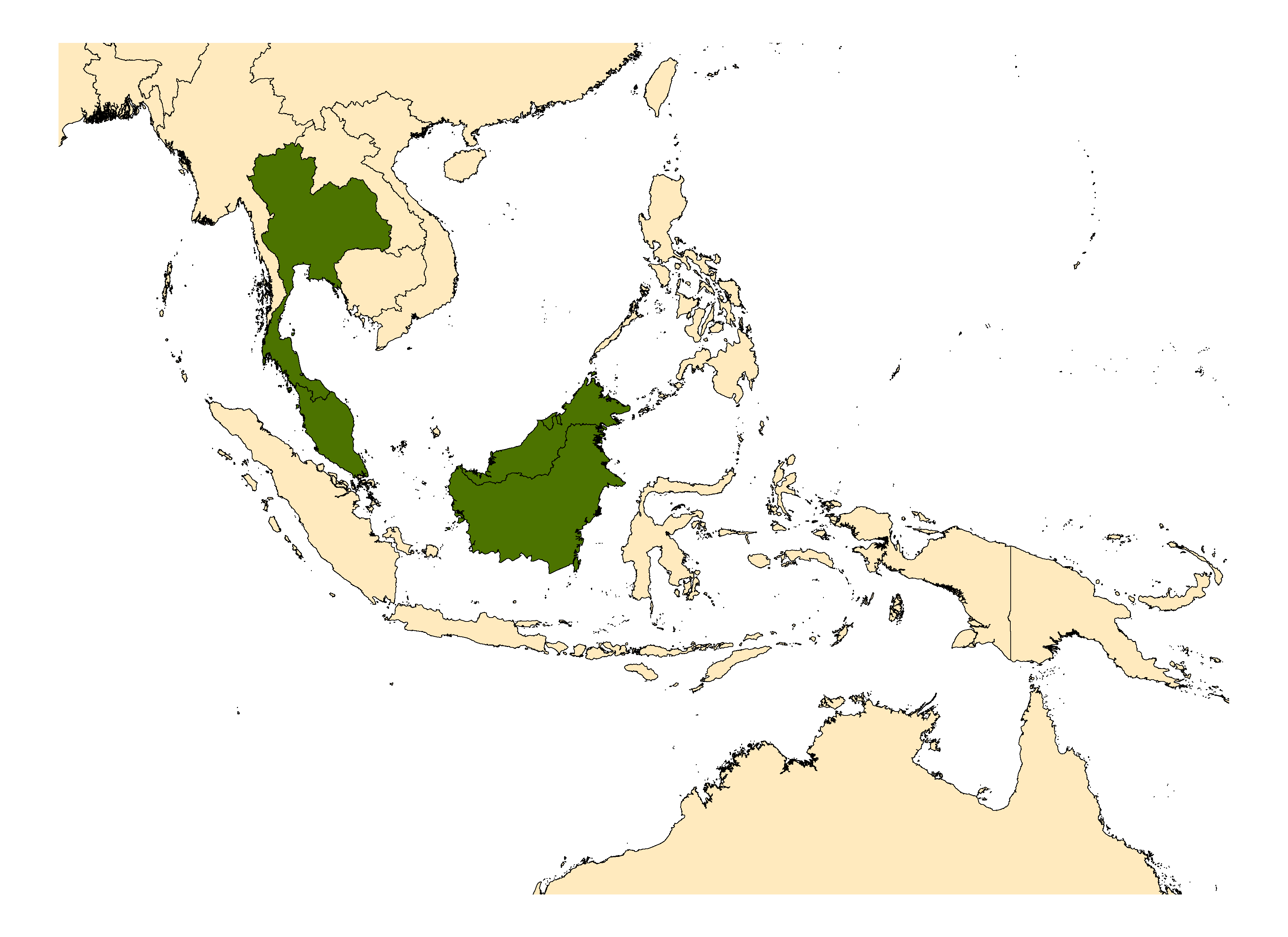 Distribution map for <em>Anopheles latens</em> Sallum & Peyton, 2005