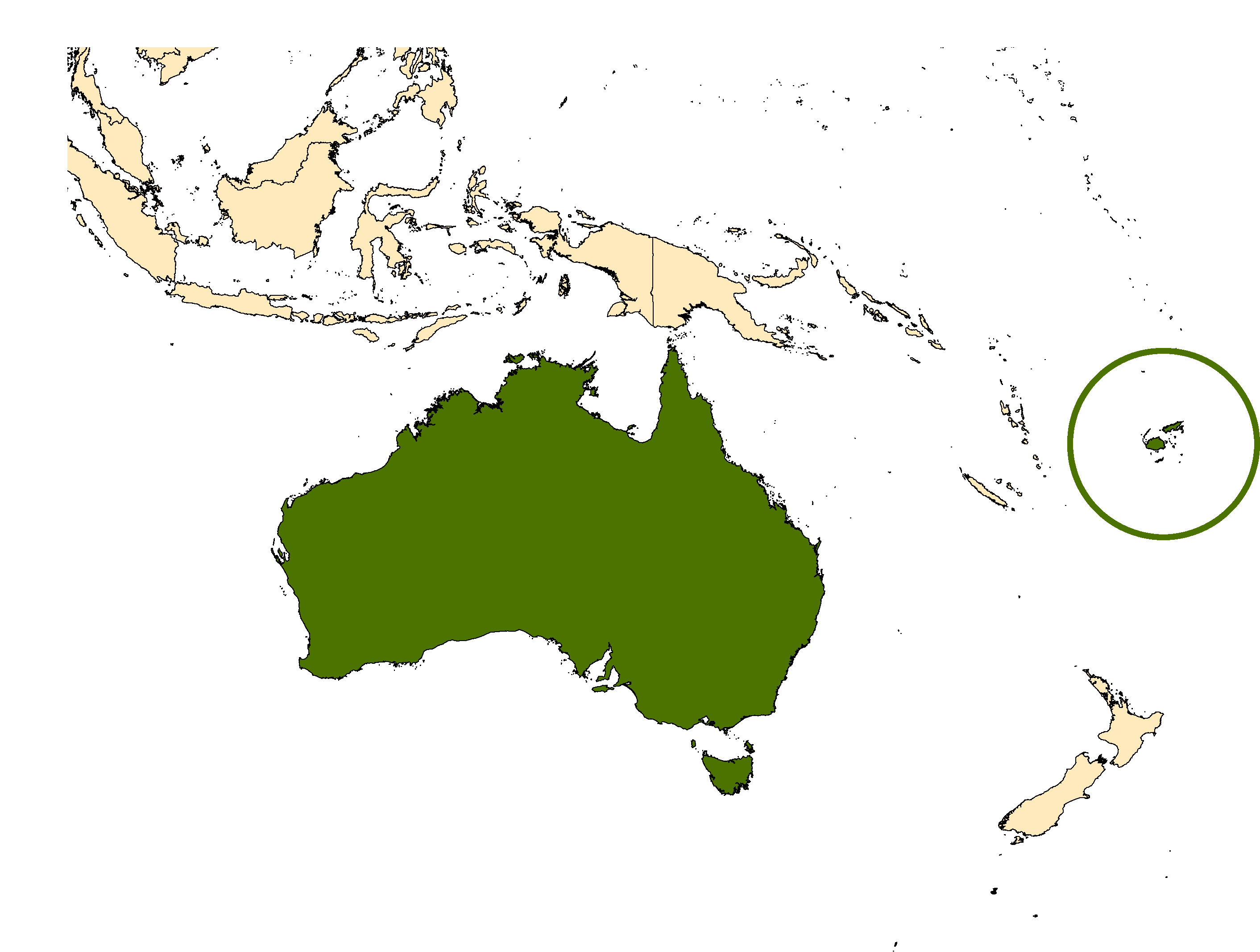 Distribution map for <em>Aedes polynesiensis</em> Marks, 1951