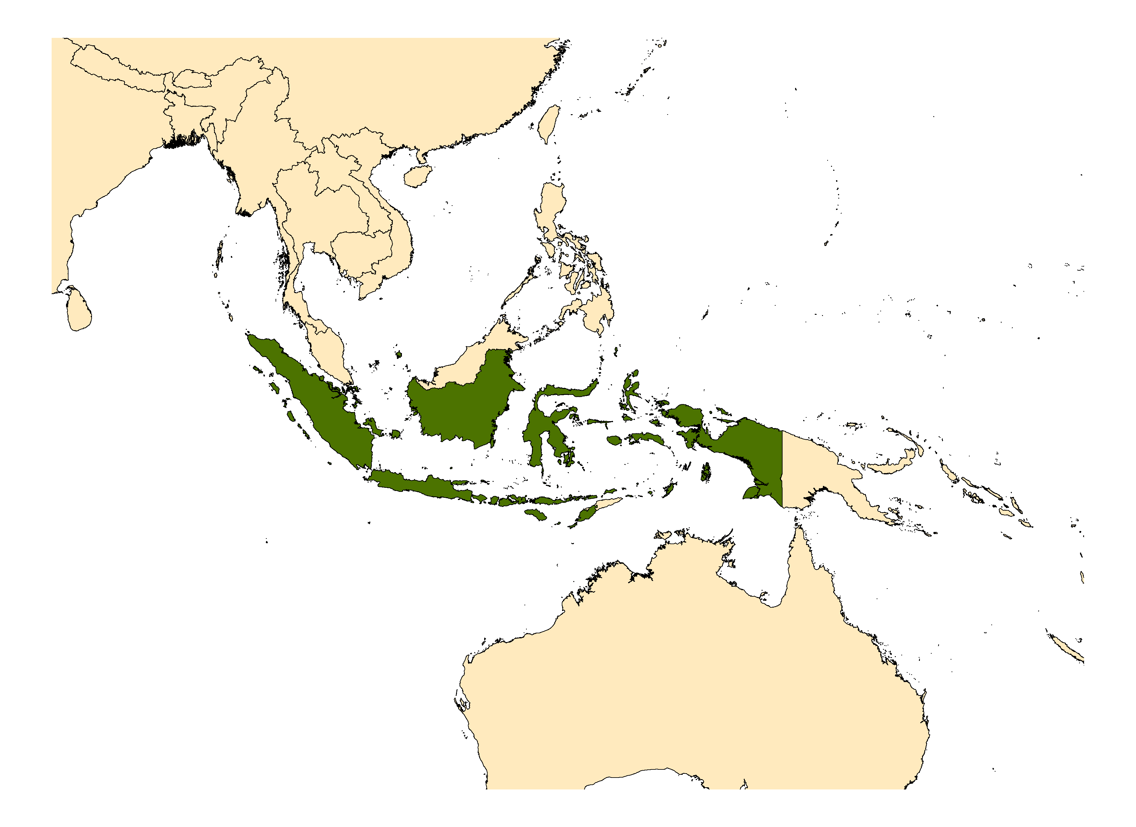 Distribution map for <em>Anopheles sulawesi</em> Koesoemawinangoen, 1954